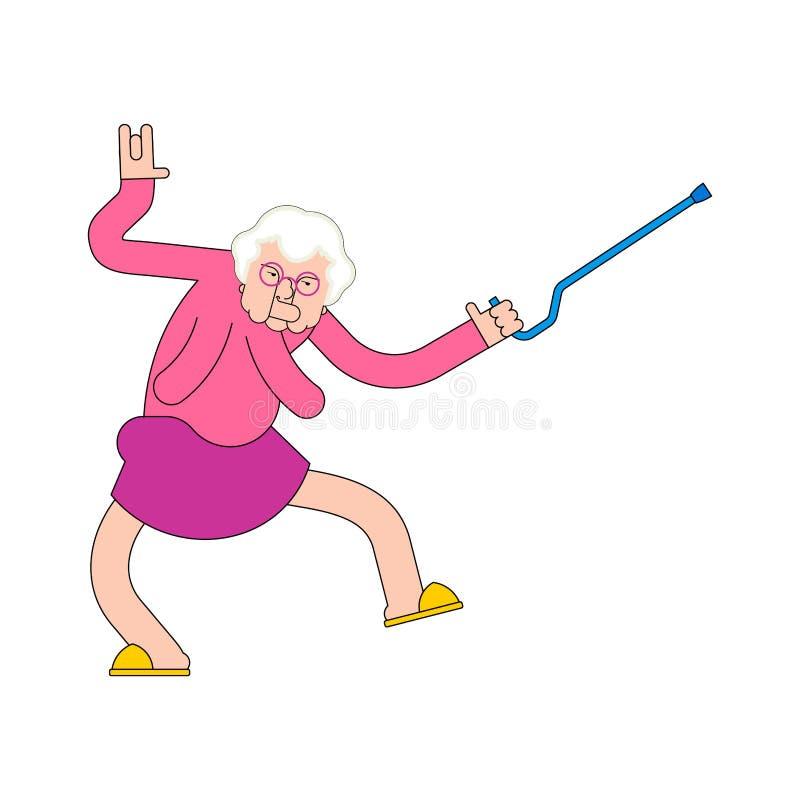 Partido de la clínica de reposo Danza de la abuela Danzas de la abuela Señora mayor libre illustration