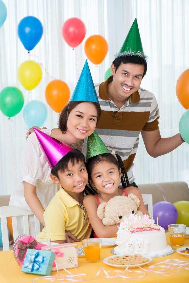 Partido de la familia foto de archivo