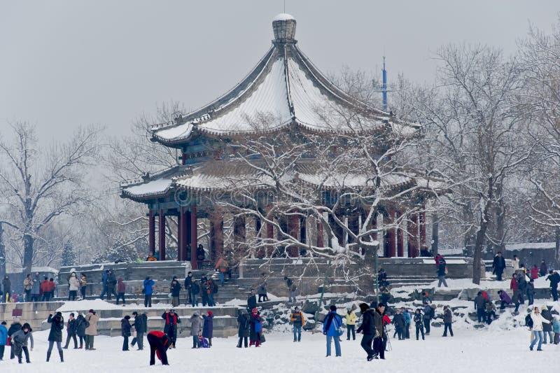 Partido de la nieve. fotos de archivo