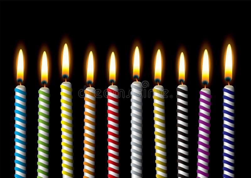 Partido de la raya de la vela del cumpleaños libre illustration