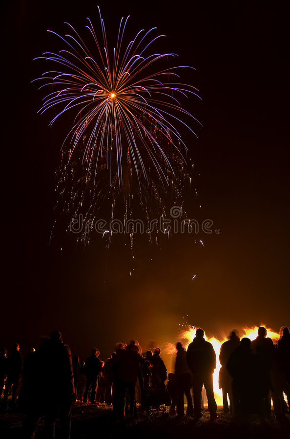 Partido de los fuegos artificiales fotografía de archivo libre de regalías