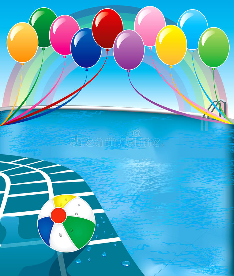 Partido de piscina stock de ilustración
