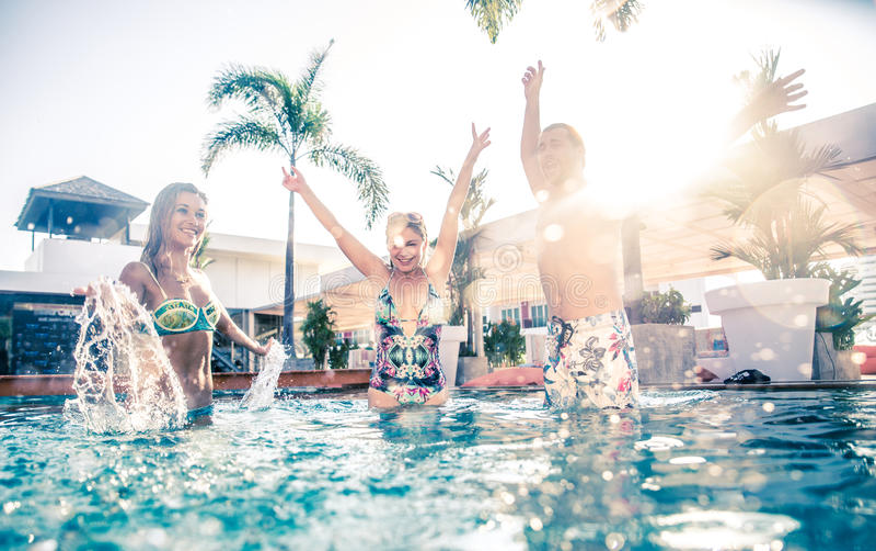 Partido de piscina fotografia de stock royalty free