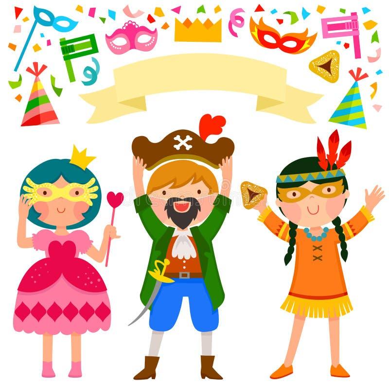 Partido de Purim ilustração royalty free
