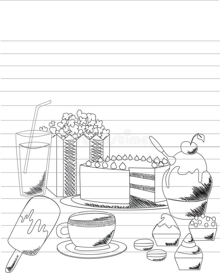 Partido de té stock de ilustración