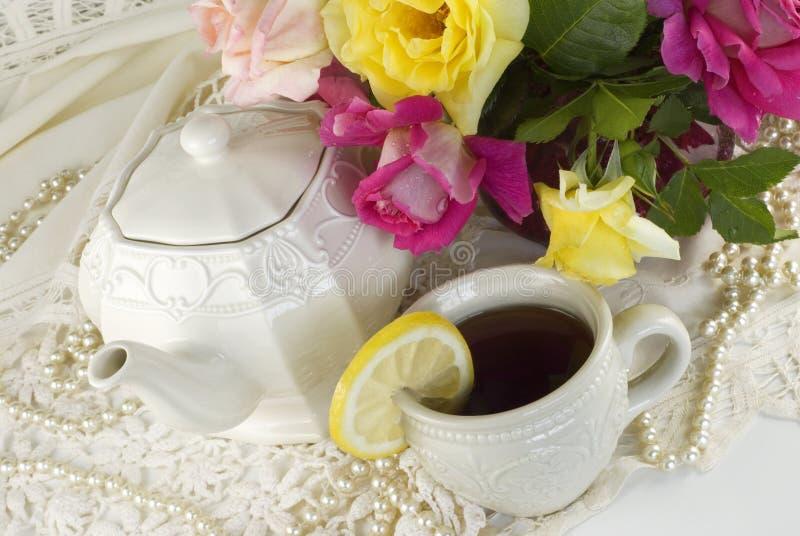 Partido de té de las señoras imagen de archivo libre de regalías