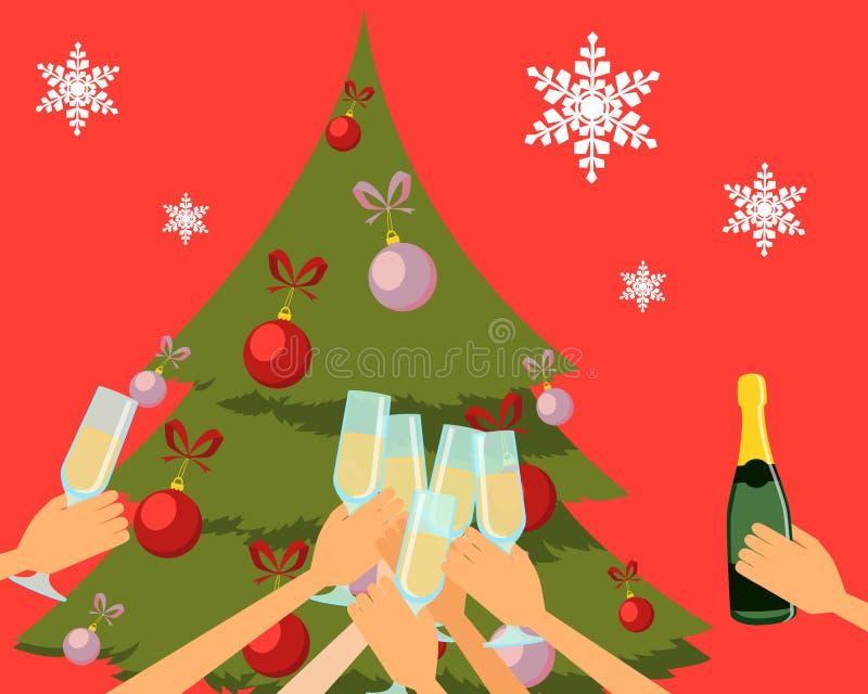 Partido del Año Nuevo stock de ilustración
