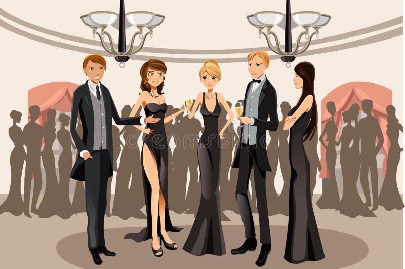 Partido del banquete ilustración del vector