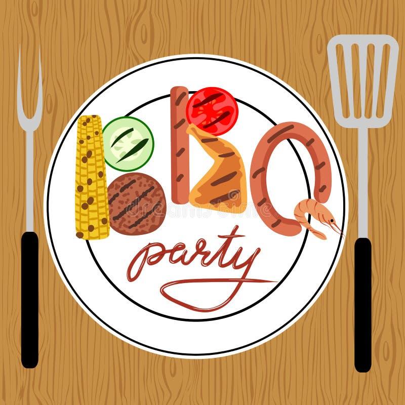 Partido del Bbq libre illustration