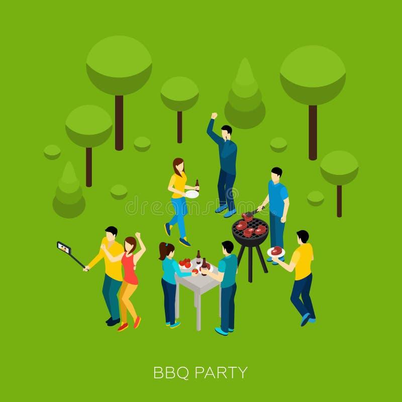 Partido del Bbq de los amigos libre illustration