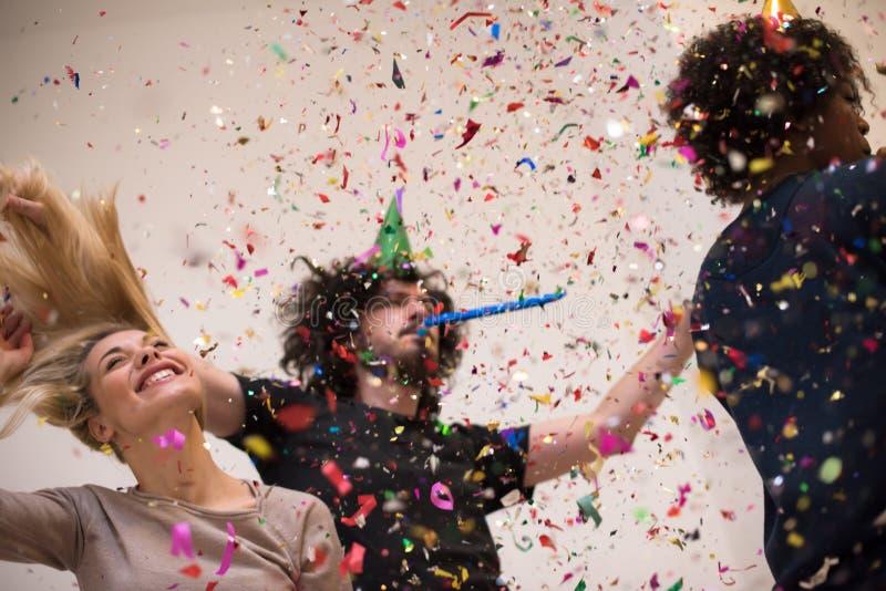 Partido del confeti fotografía de archivo libre de regalías