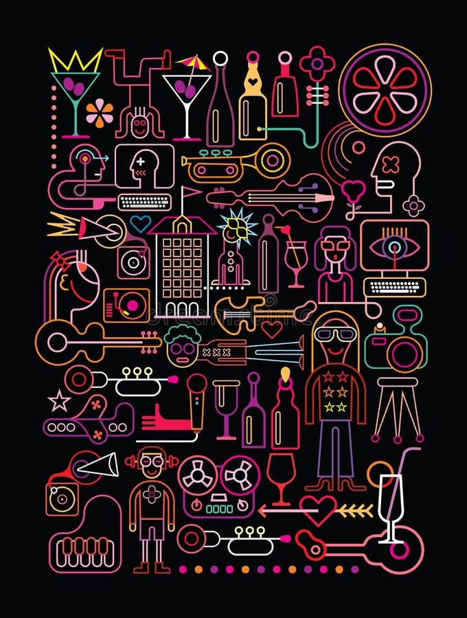 Partido del disco libre illustration