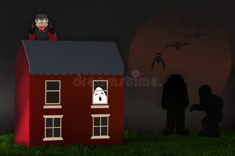 Partido del feliz Halloween ilustración del vector