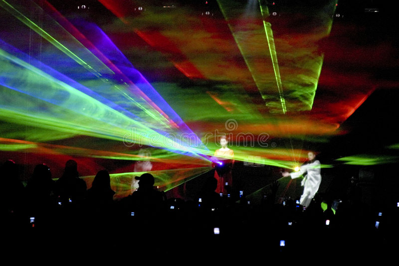 Partido del laser foto de archivo libre de regalías