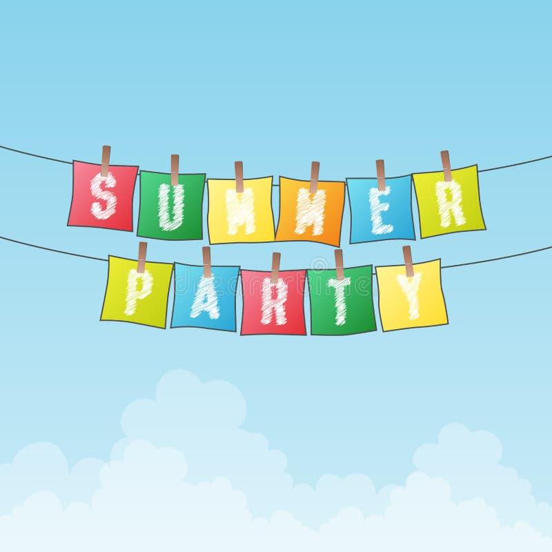 Partido del verano ilustración del vector