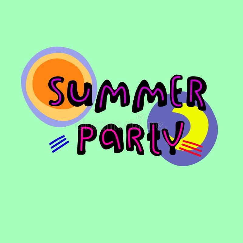 Partido del verano Aviador del acontecimiento del verano, bandera, invitaci?n Grande para los medios sociales Modelo del vector L ilustración del vector