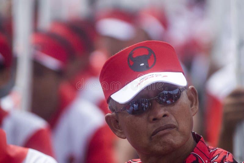 PARTIDO DEMOCRÁTICO INDONESIO DE PERFIL DE LA LUCHA imagen de archivo