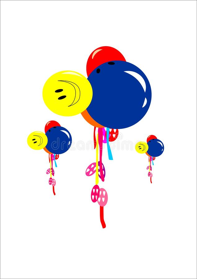Partido do balão do vetor foto de stock