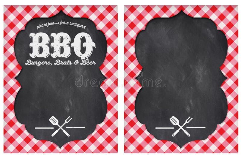 Partido do BBQ ilustração royalty free