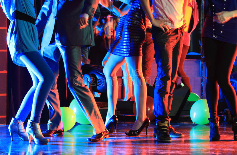 Partido do clube de noite imagem de stock