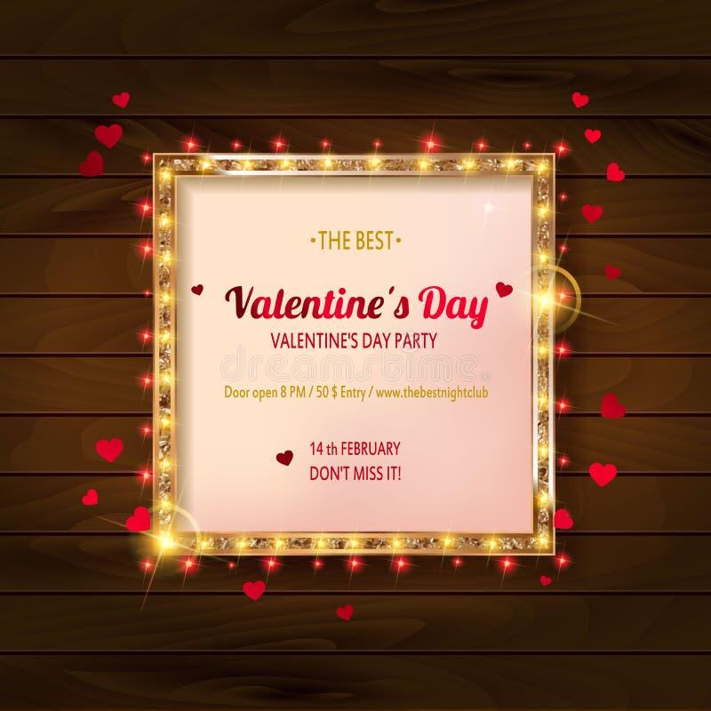 Partido do dia do `s do Valentim ilustração stock