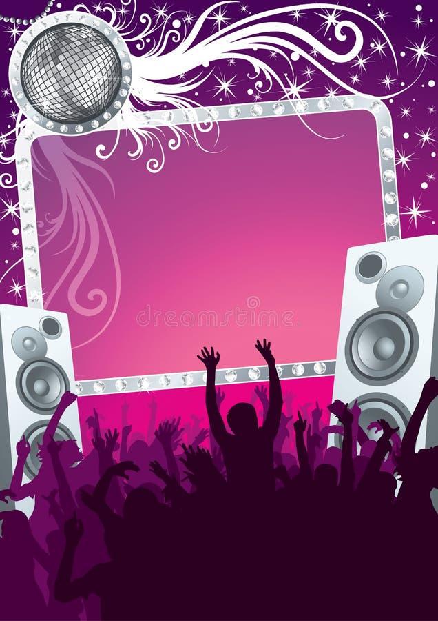 Partido do disco ilustração stock