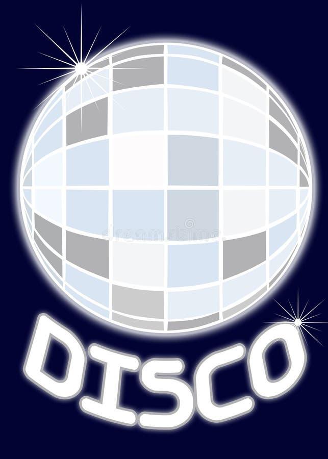 Partido do disco da esfera do espelho ilustração stock