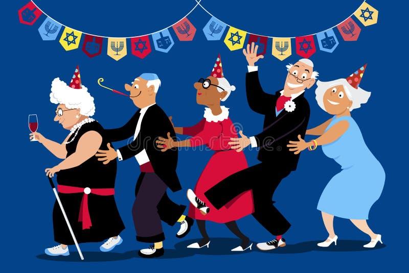 Partido do Hanukkah ilustração royalty free
