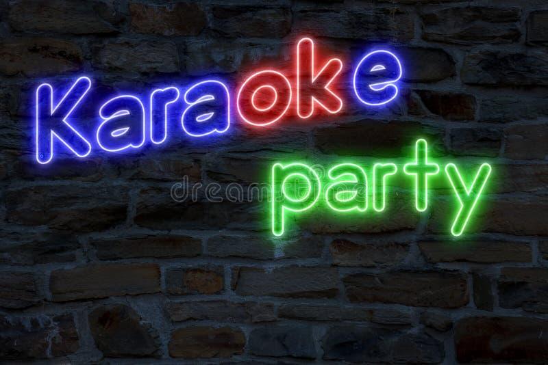 Partido do karaoke ilustração royalty free