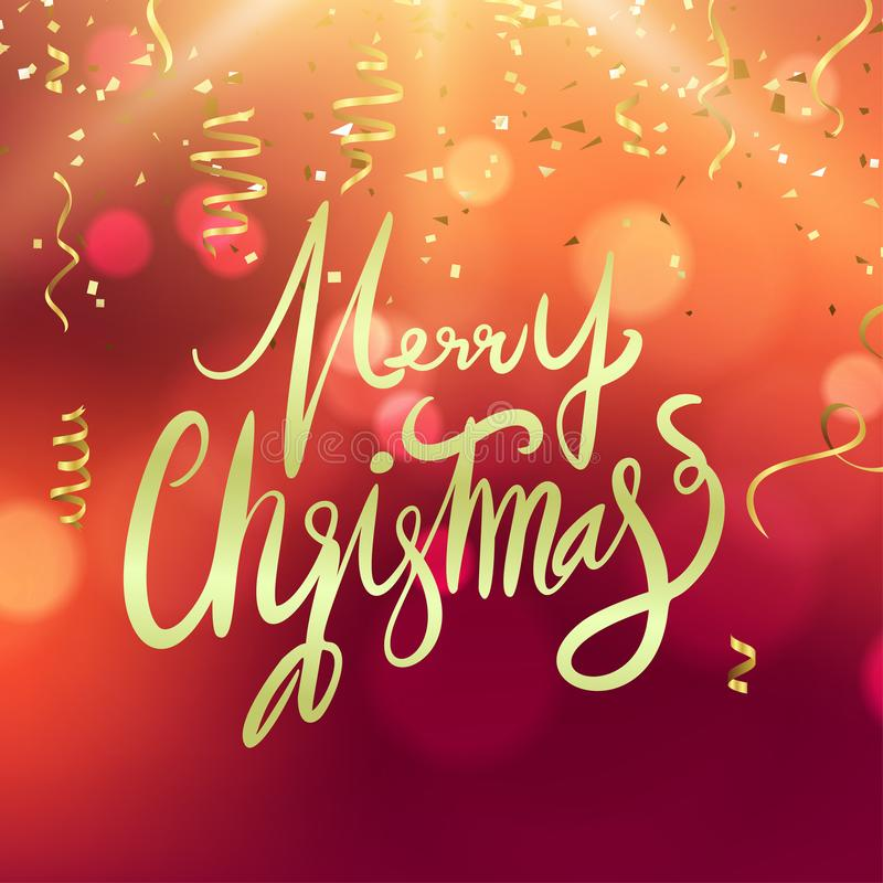 Partido do molde do cartaz da festa de Natal e do ano novo feliz lustro ilustração do vetor