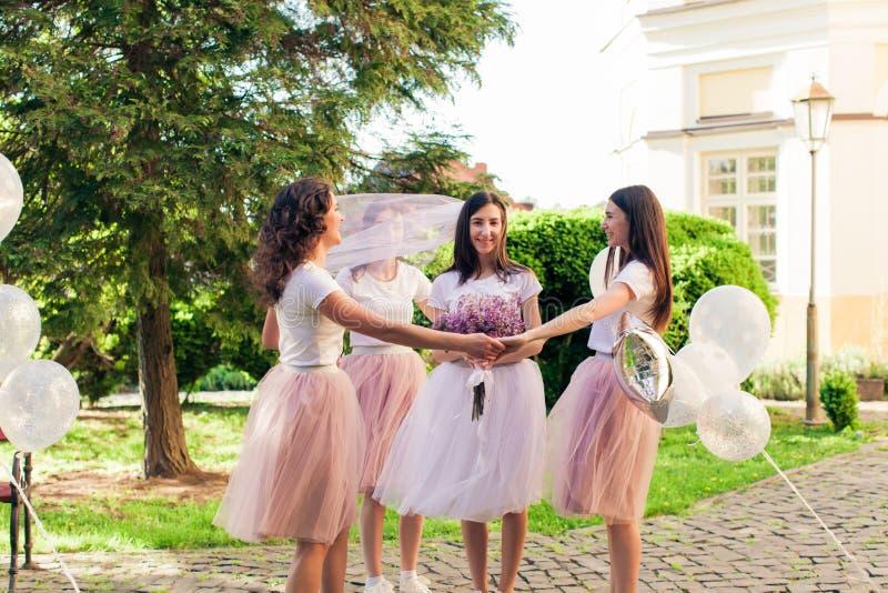 Partido do ` s da menina antes do casamento imagem de stock royalty free