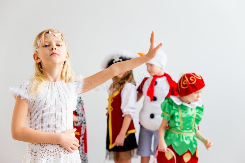 Partido do traje das crianças imagens de stock