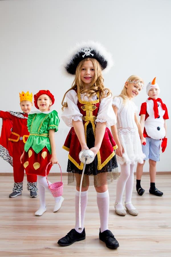 Partido do traje das crianças imagens de stock royalty free