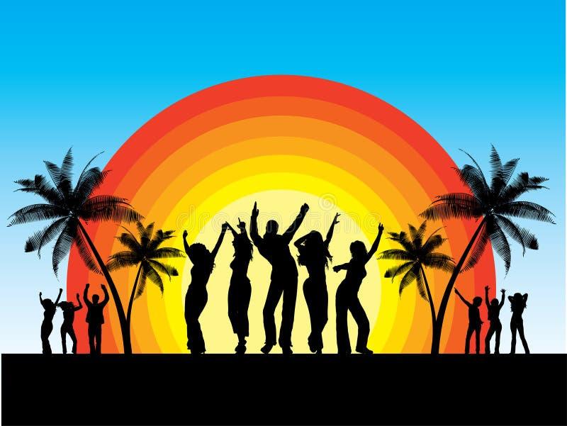 Partido do verão ilustração do vetor