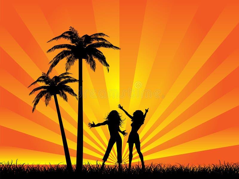 Partido do verão ilustração royalty free