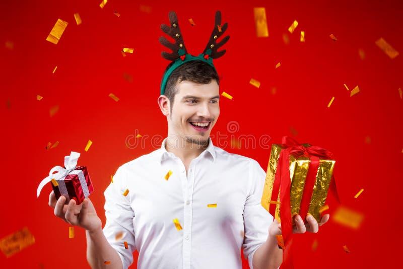 Partido dos amigos do ano novo e do Feliz Natal fotos de stock royalty free
