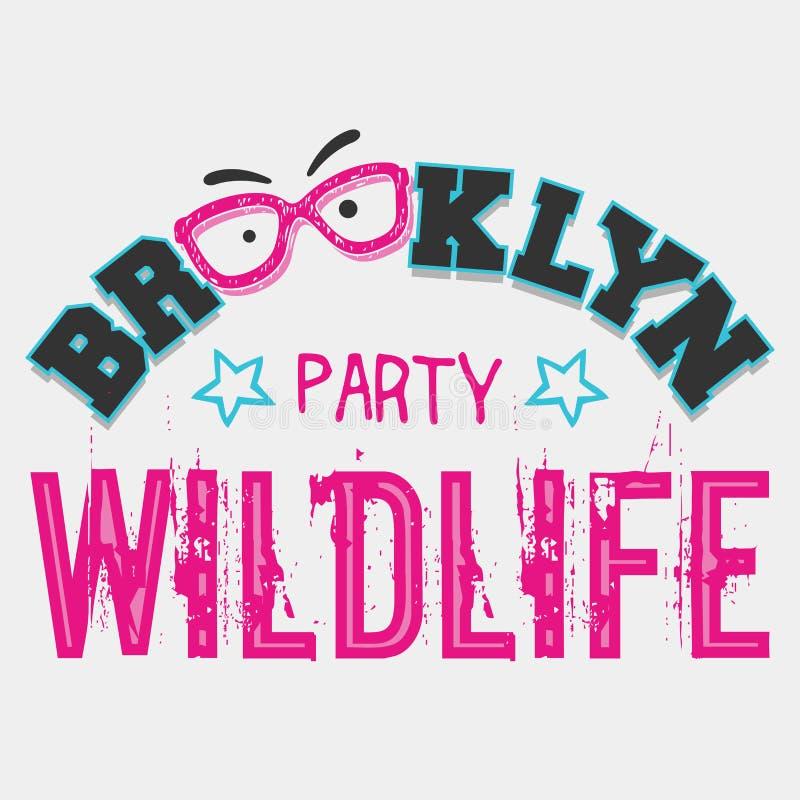 Partido dos animais selvagens de Brooklyn ilustração royalty free