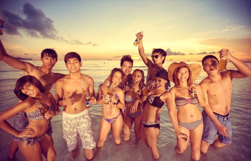Partido en la playa imagen de archivo