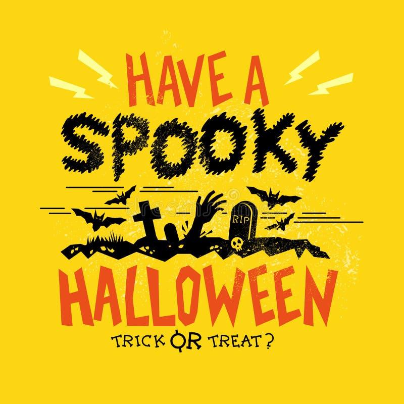 Partido fantasmagórico de Halloween ilustración del vector