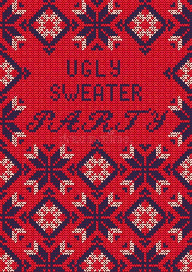 Partido feo del suéter libre illustration