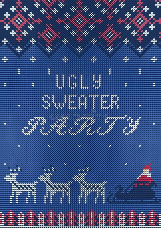 Partido feo del suéter ilustración del vector