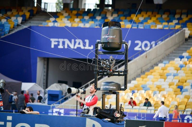 Partido final 2018 de la liga de campeones de UEFA imagen de archivo libre de regalías