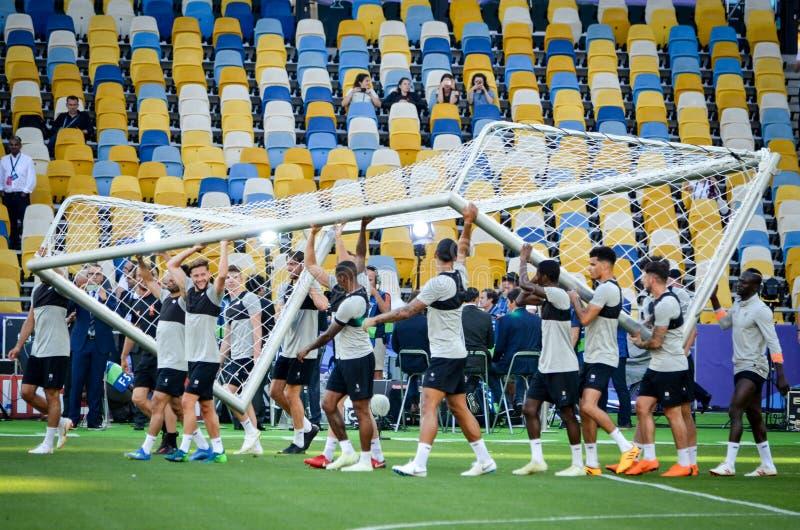 Partido final 2018 de la liga de campeones de UEFA imágenes de archivo libres de regalías