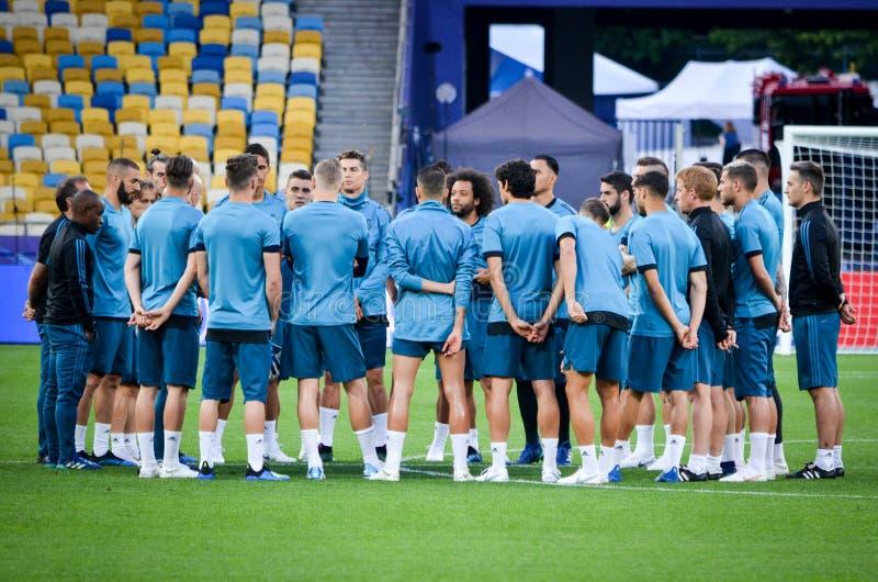 Partido final 2018 de la liga de campeones de UEFA foto de archivo