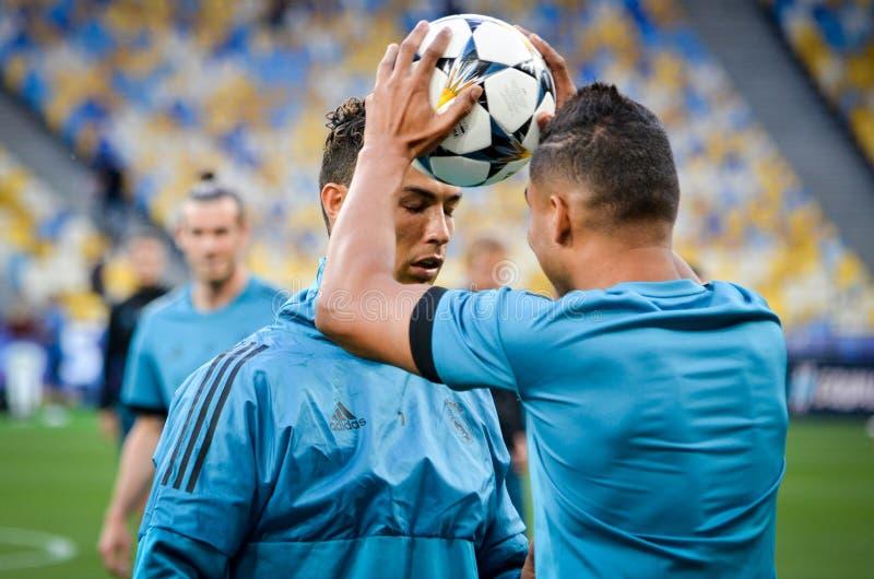 Partido final 2018 de la liga de campeones de UEFA fotografía de archivo