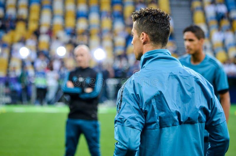 Partido final 2018 de la liga de campeones de UEFA imagen de archivo