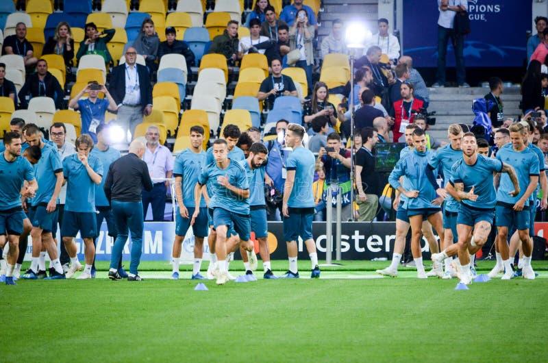 Partido final 2018 de la liga de campeones de UEFA foto de archivo libre de regalías