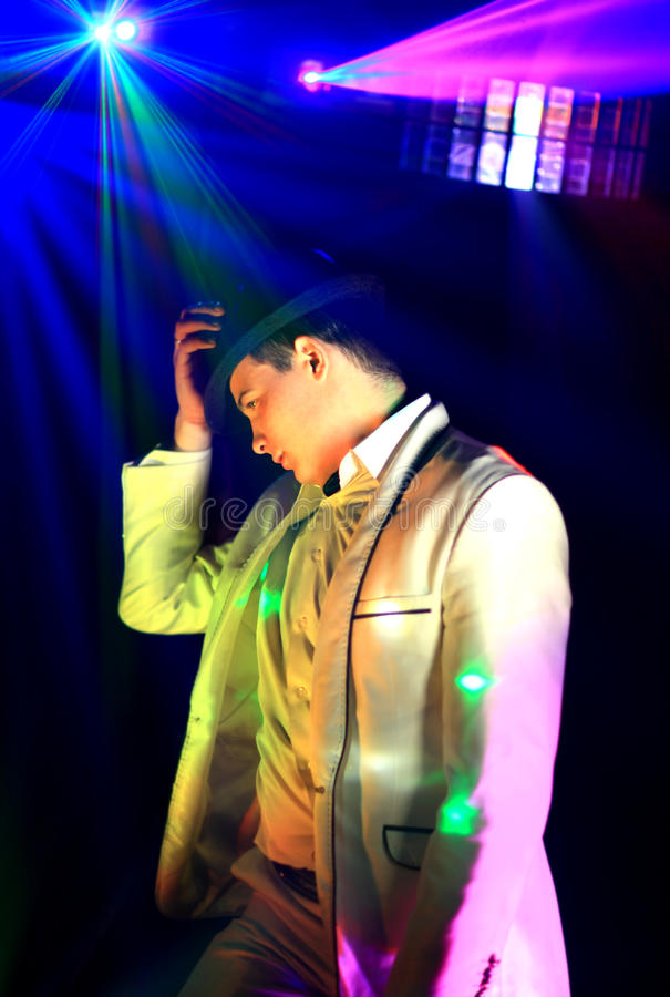 Partido fresco DJ do clube noturno imagem de stock royalty free
