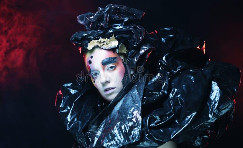 Partido g?tico bonito escuro de Princess Partido de Halloween Fim acima fotos de stock royalty free
