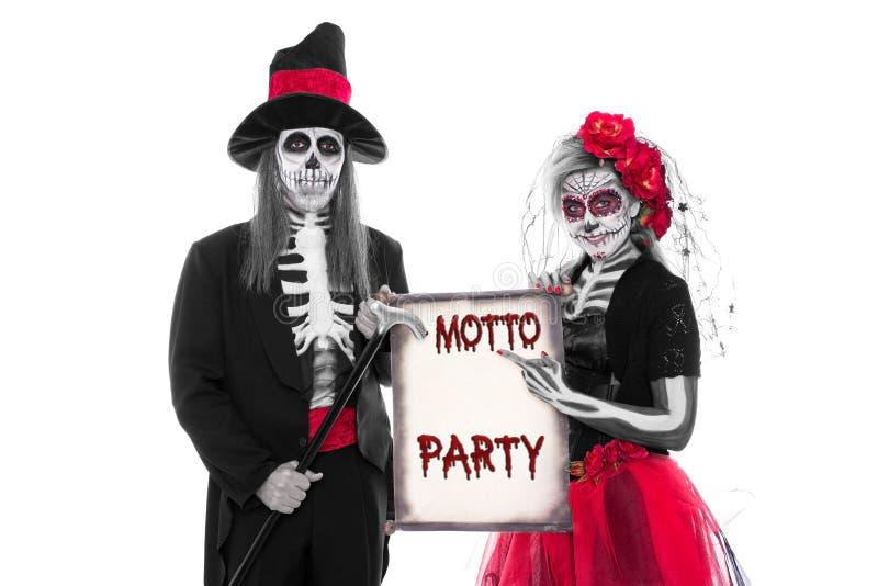 Partido Halloween del lema fotos de archivo libres de regalías